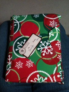 My dad's beautiful for gift for wrapping presents.