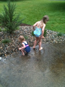 Playing in Rain