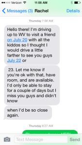 Rachel Text